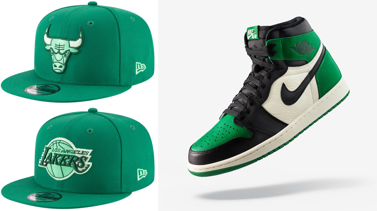 jordan-1-pine-green-snapback-hats-to-match