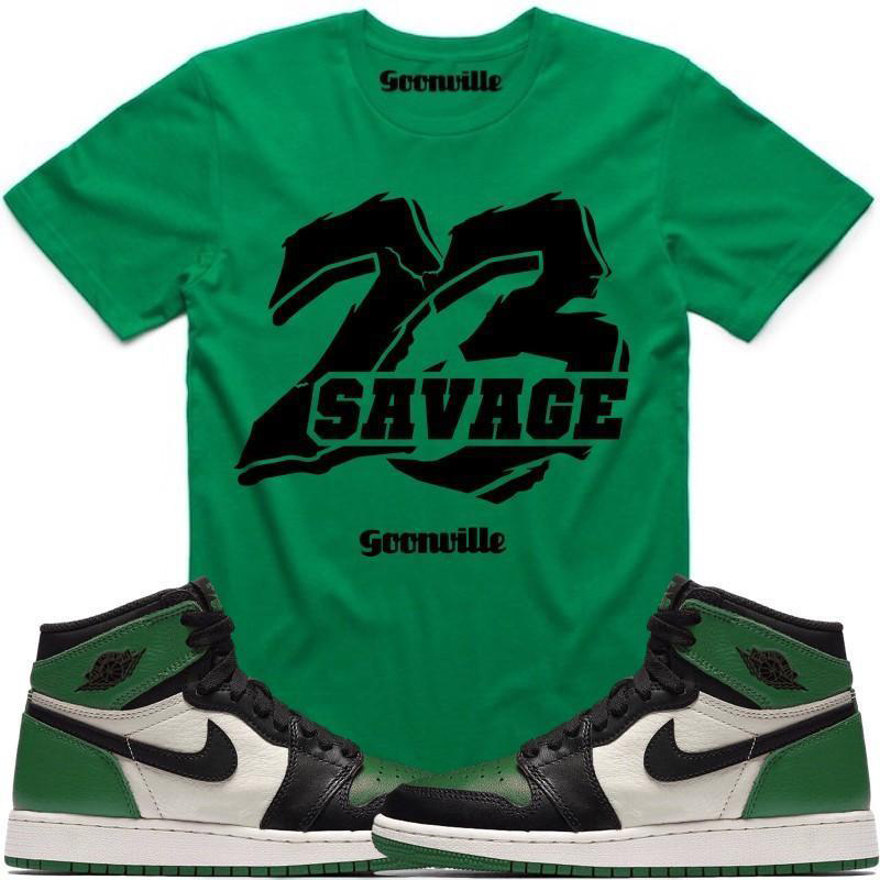 149ad37fb7d1 Sneaker Shirts for Jordan 1 Pine Green and Court Purple ...