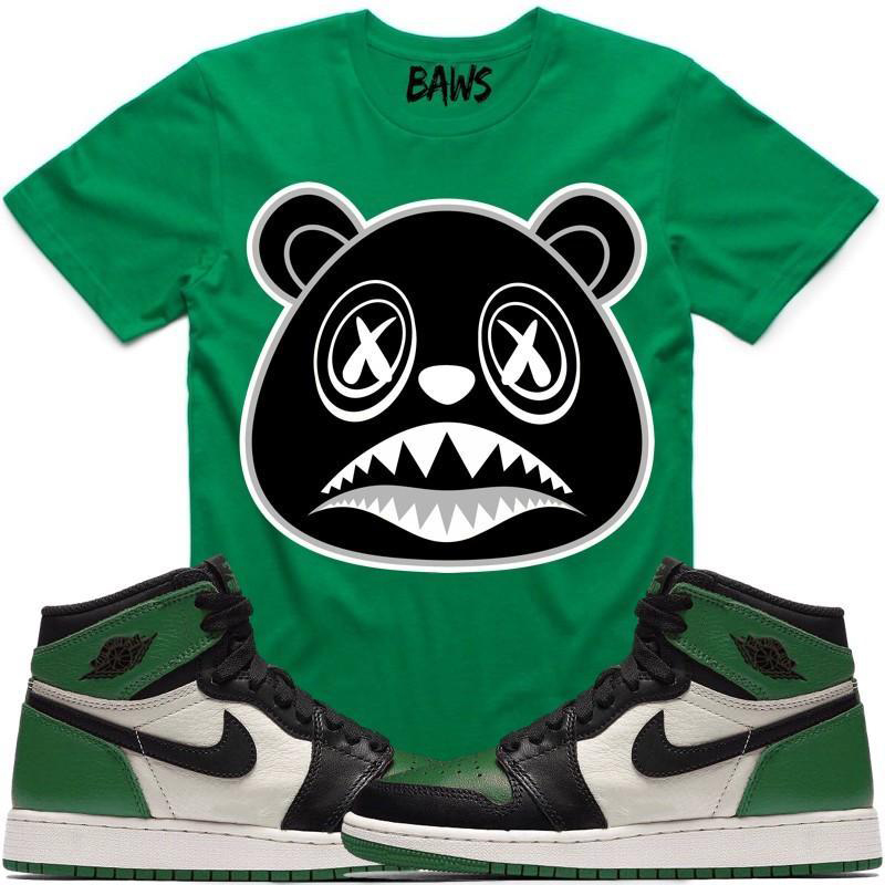 0e7012ee13e Jordan 1 Pine Green Sneaker Shirt Hat Match by BAWS Clothing ...
