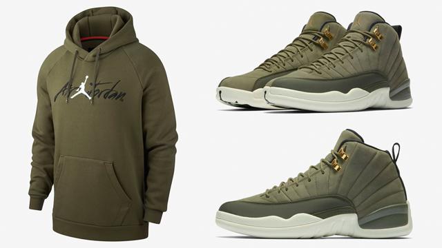 jordan-12-chris-paul-olive-hoodie