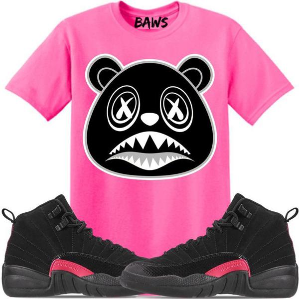 jordan-12-rush-pink-sneaker-tee-shirt-3