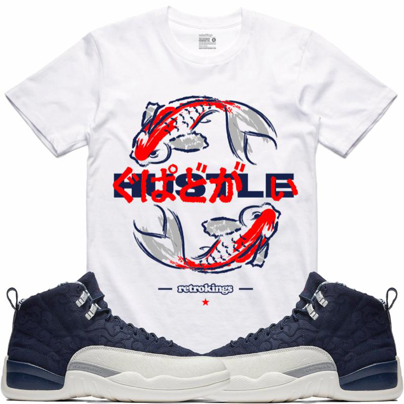 bb36ea82c12 Jordan 12 Tokyo International Flight Sneaker Shirts | SneakerFits.com