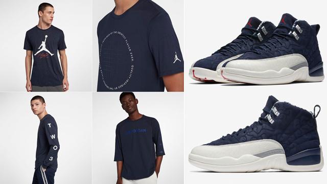 "4c85a7adc9f84f Air Jordan 12 ""International Flight"" x Jordan Brand Shirts to Match"