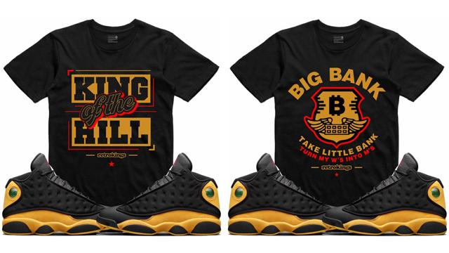 "d6715cf3752 Air Jordan 13 Melo ""Class of 2002"" x Retro Kings Sneaker Shirts to Match"