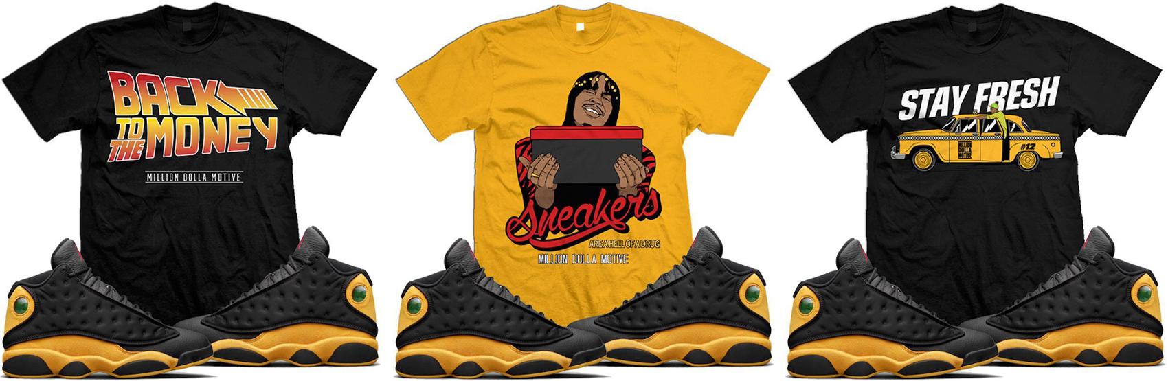 jordan-13-melo-oak-hill-sneaker-tee-shirts-million-dolla-motive