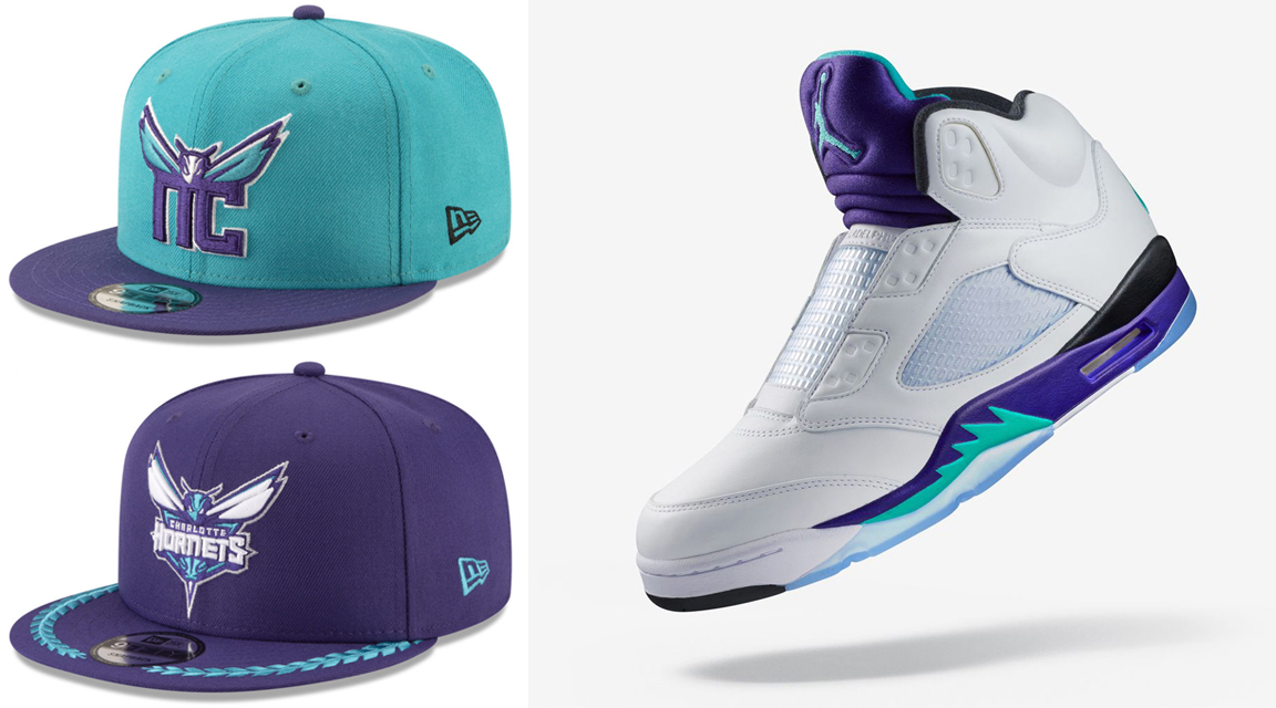 jordan-5-fresh-prince-grape-hornets-hats