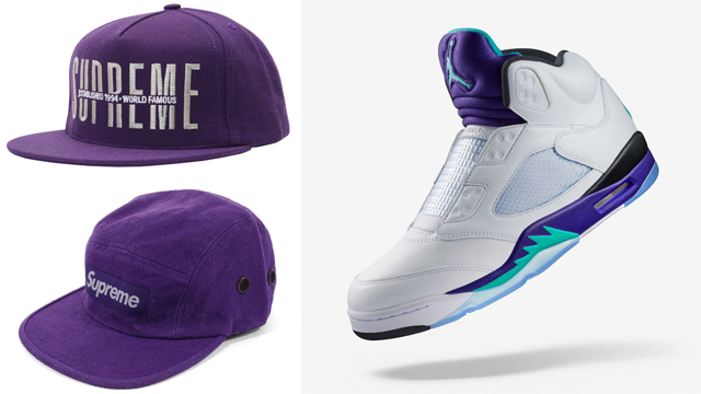 jordan-5-fresh-prince-grape-supreme-caps-to-match