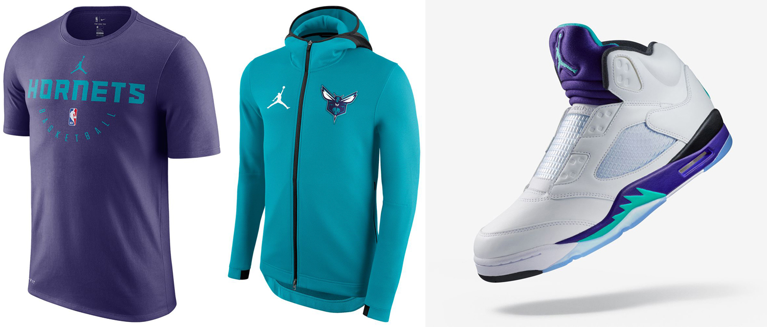 jordan-5-fresh-prince-laceless-hornets-clothing-match