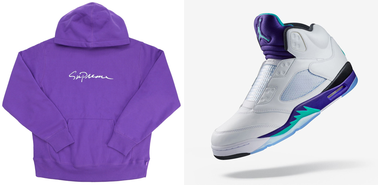 jordan-5-fresh-prince-supreme-clothing-match