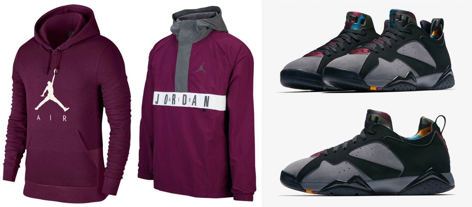 "2bc118fb1cf76b Air Jordan 7 Low NRG ""Bordeaux"" x Jordan Bordeaux Clothing to Match"