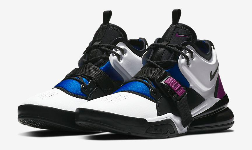 694fec67a5d3 nike-air-force-270-lyon-blue-bold-berry-. Channeling classic Huarache  basketball vibes