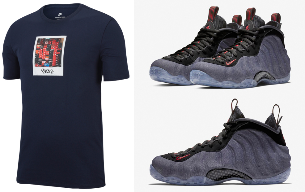 on sale bc15a 05532 Nike Denim Foamposite Shirts to Match | SneakerFits.com