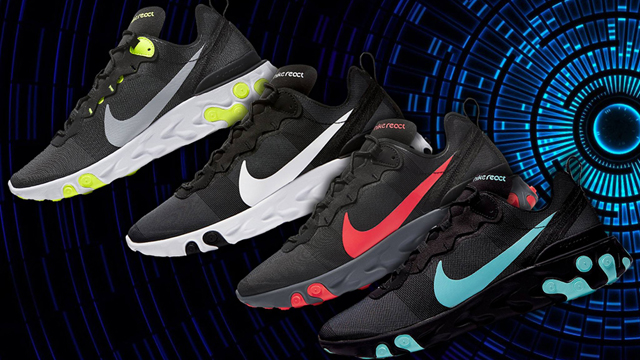 "1ad832bf86b5 Where to Buy the Nike React Element 55 ""Black Pack"""