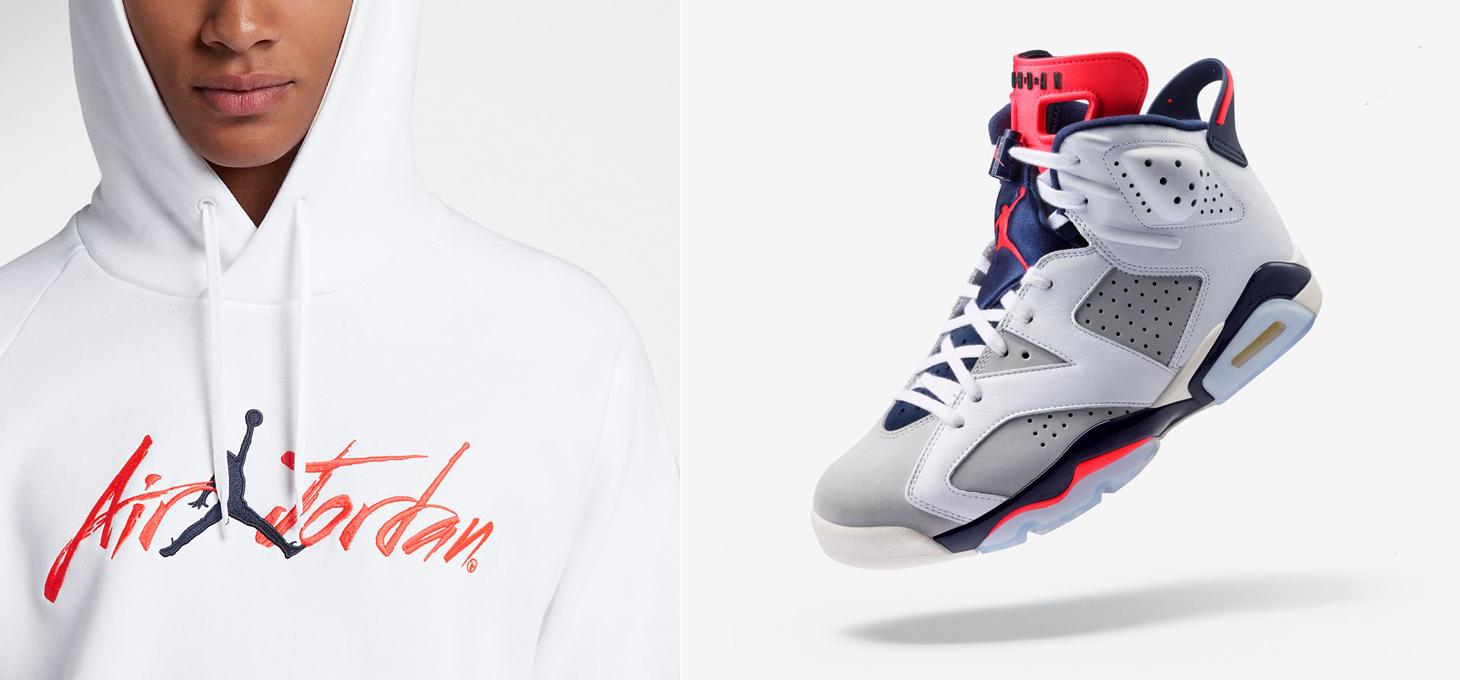 2a6d527ffe1 Air Jordan 6 Tinker Infrared Hoodie Match   SneakerFits.com
