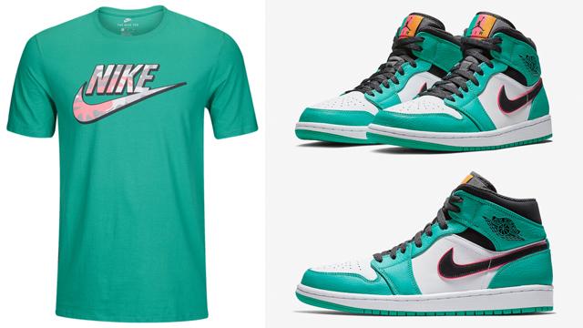 Air Jordan 1 Mid South Beach Shirts
