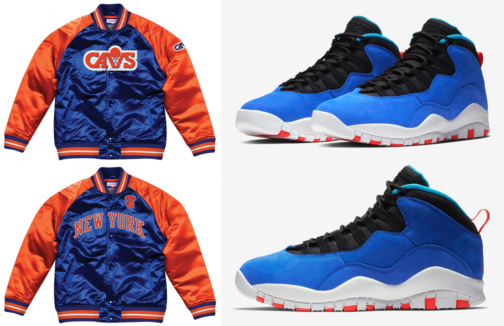 "b3f4105d3e40 Air Jordan 10 ""Air Huarache Light"" x Mitchell   Ness Retro NBA Satin Jackets"