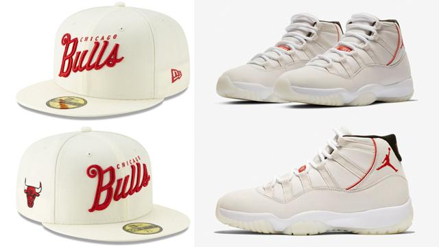 watch 5ddf0 d2364 Air Jordan 11 Platinum Sail Bulls Cap Match | SneakerFits.com