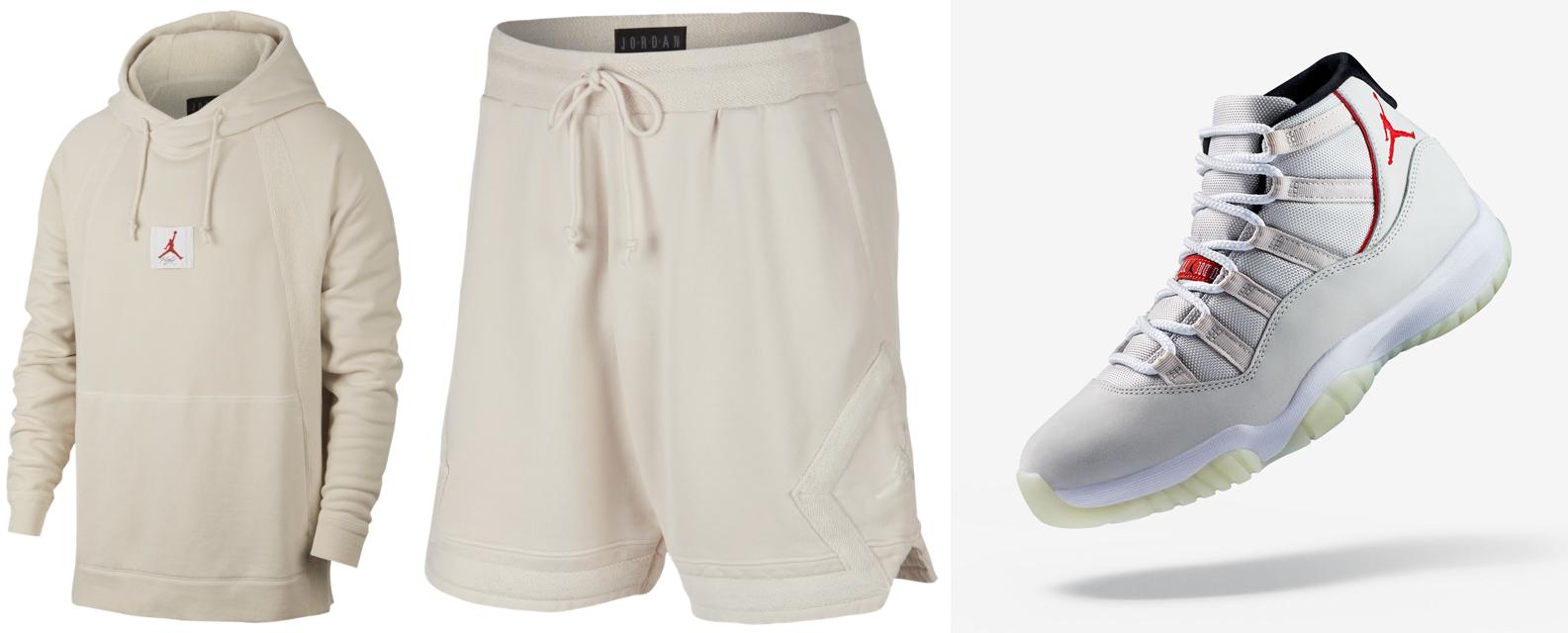 c1d9b46b36ac16 Air Jordan 11 Platinum Tint Clothing Match