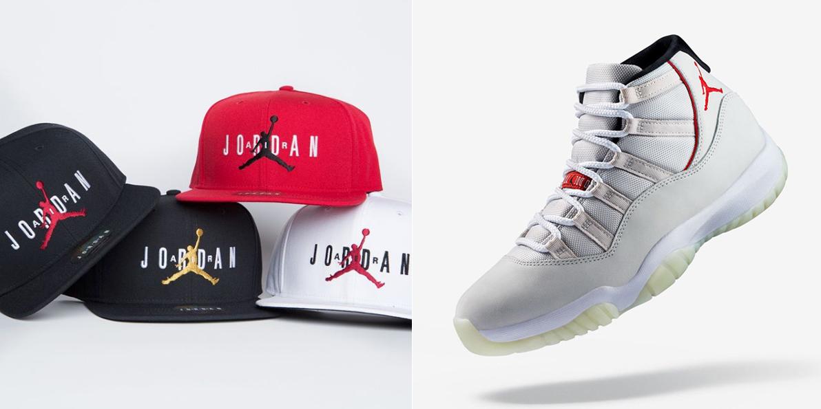 "d49b9d91ad3 Air Jordan 11 ""Platinum Tint"" x Jordan Jumpman Air Pro Snapback Caps"