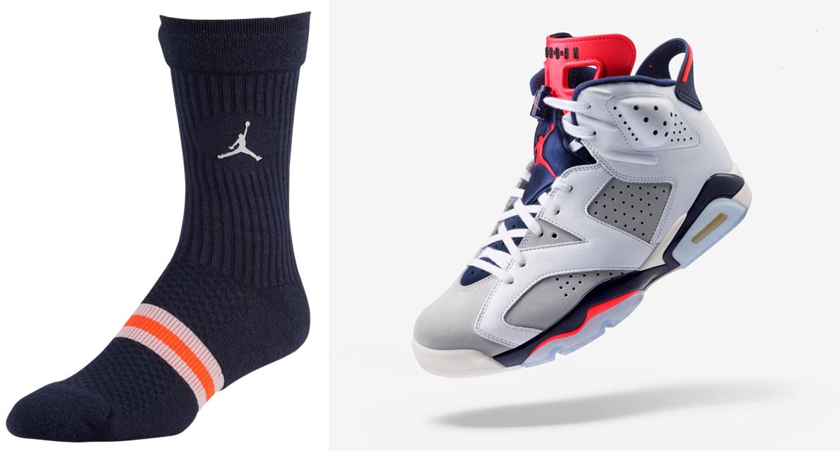 "3f780f9e9b7 Air Jordan 6 ""Tinker"" x Jordan Tinker Legacy Socks"