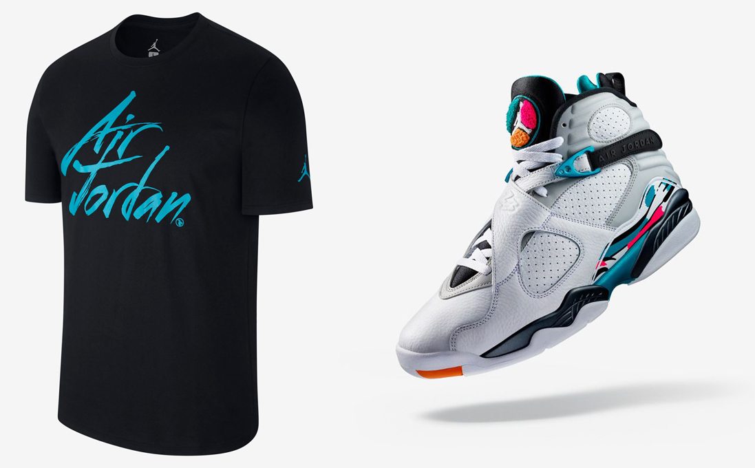 air-jordan-8-south-beach-shirt-match