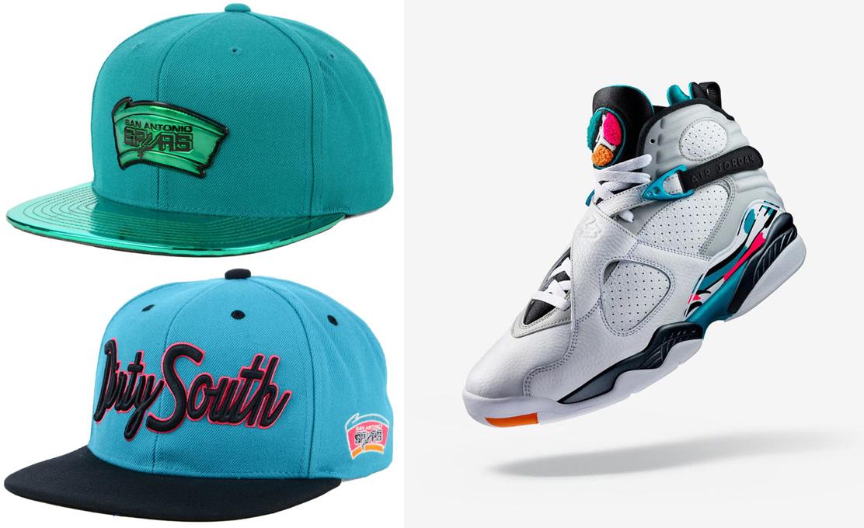 air-jordan-8-south-beach-spurs-hats