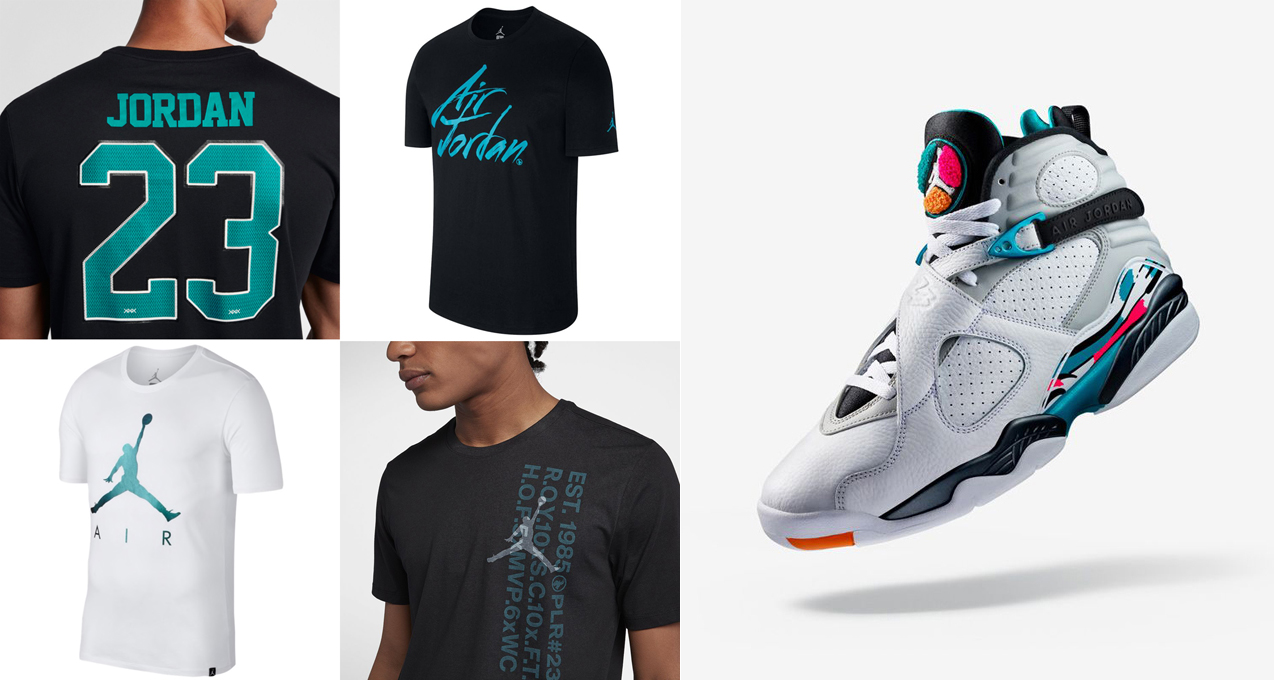new products 36c28 3bfbe Air Jordan 8 South Beach Shirts | SneakerFits.com