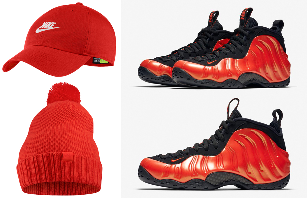 habanero-red-foamposite-nike-hats-to-match