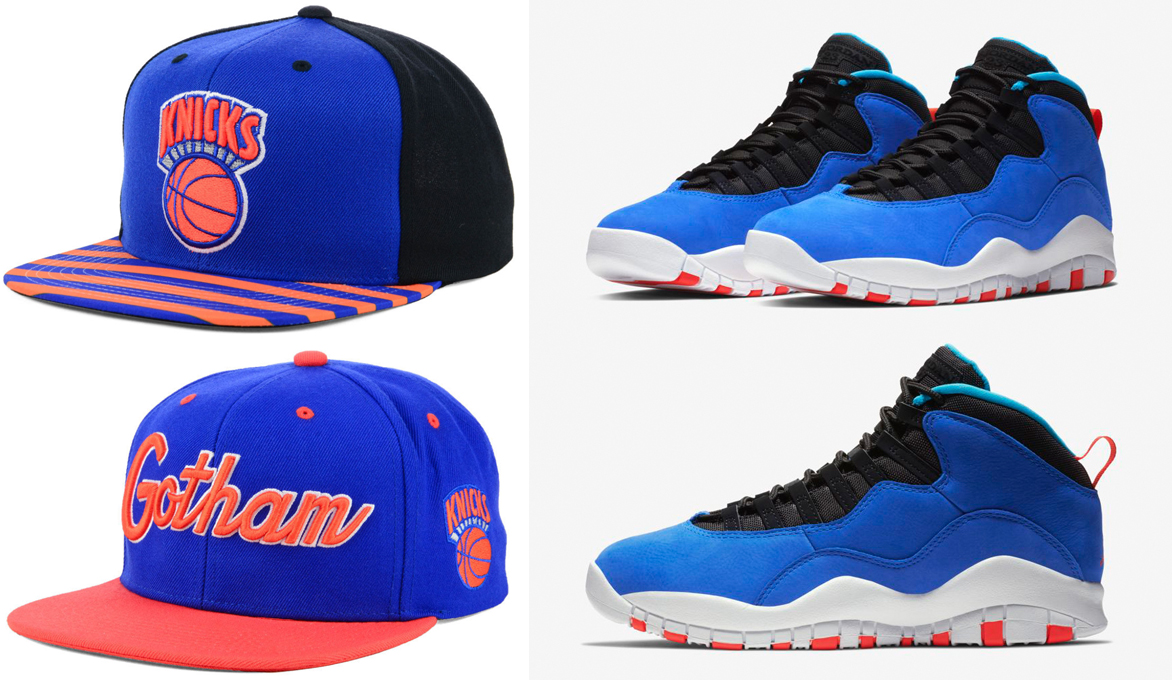 huge selection of 6bc0c 037a9 Jordan 10 Tinker Huarache Knicks Hat Match | SneakerFits.com
