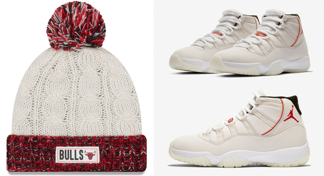 jordan-11-platinum-sail-bulls-knit-hat-match