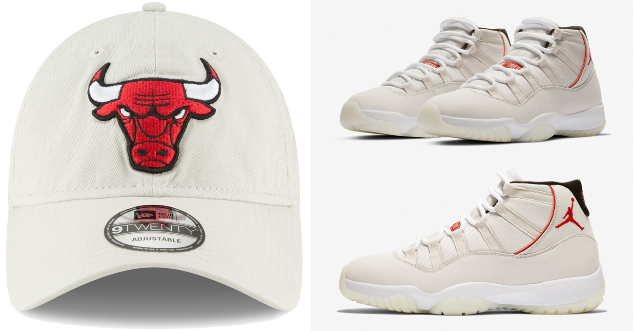 "97decf616b4ddf Air Jordan 11 ""Platinum Tint"" x Chicago Bulls New Era Core Classic 9TWENTY  Adjustable Hat"
