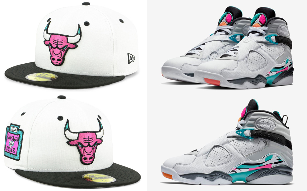 best loved fe849 d79e4 Jordan 8 South Beach Bulls Hat Match | SneakerFits.com