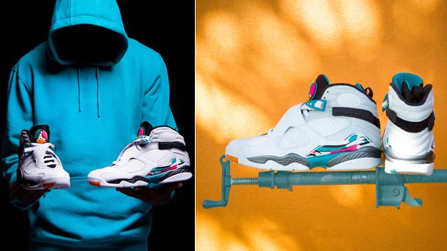 """d62ca80974e8 Air Jordan 8 """"South Beach"""" x CSG Splash Pack South Beach Colored Pullover  Hoodies"""
