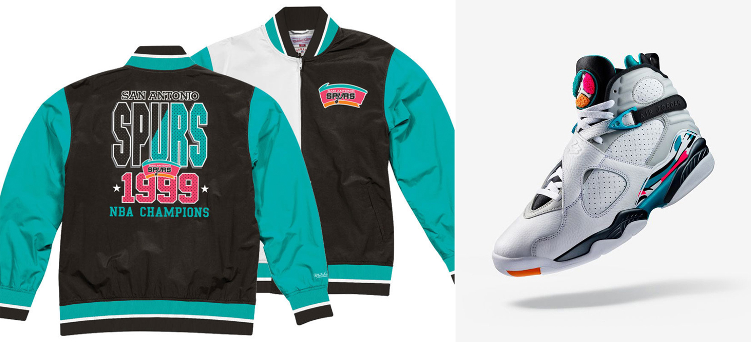 Jordan 8 South Beach Nba Retro Jacket Match Sneakerfits Com