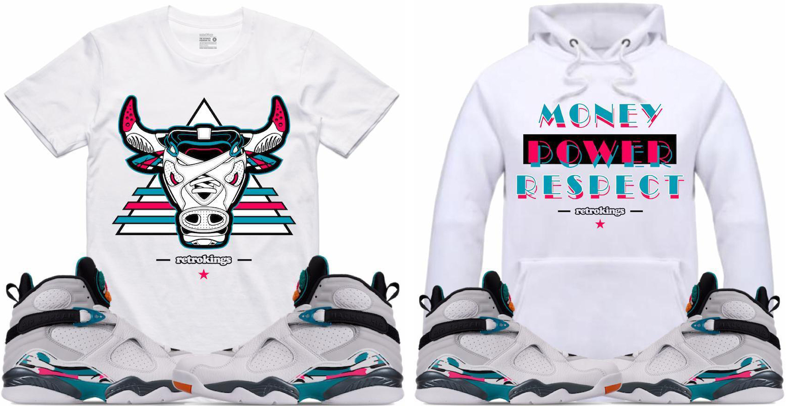 Jordan 8 South Beach Sneaker Clothing Retro Kings