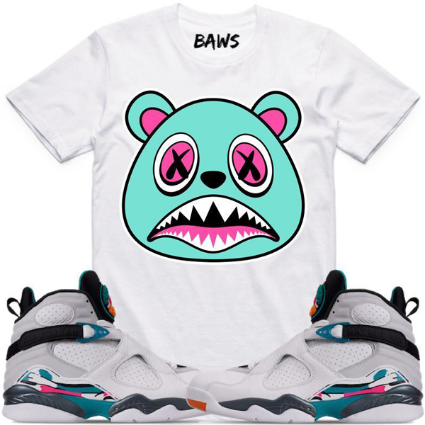 f5cbfc962c1 Jordan 8 South Beach Sneaker Tee Shirts | SneakerFits.com