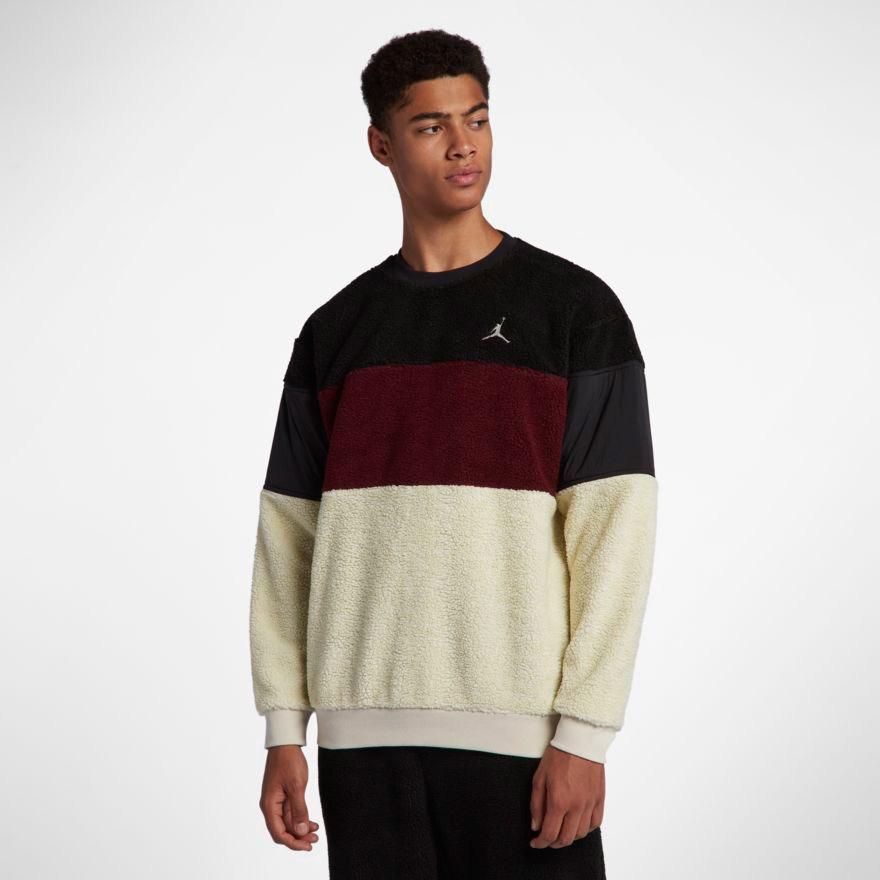 722d78c9a9f147 jordan-sherpa-crew-sweatshirt-black-burgundy-bone-2