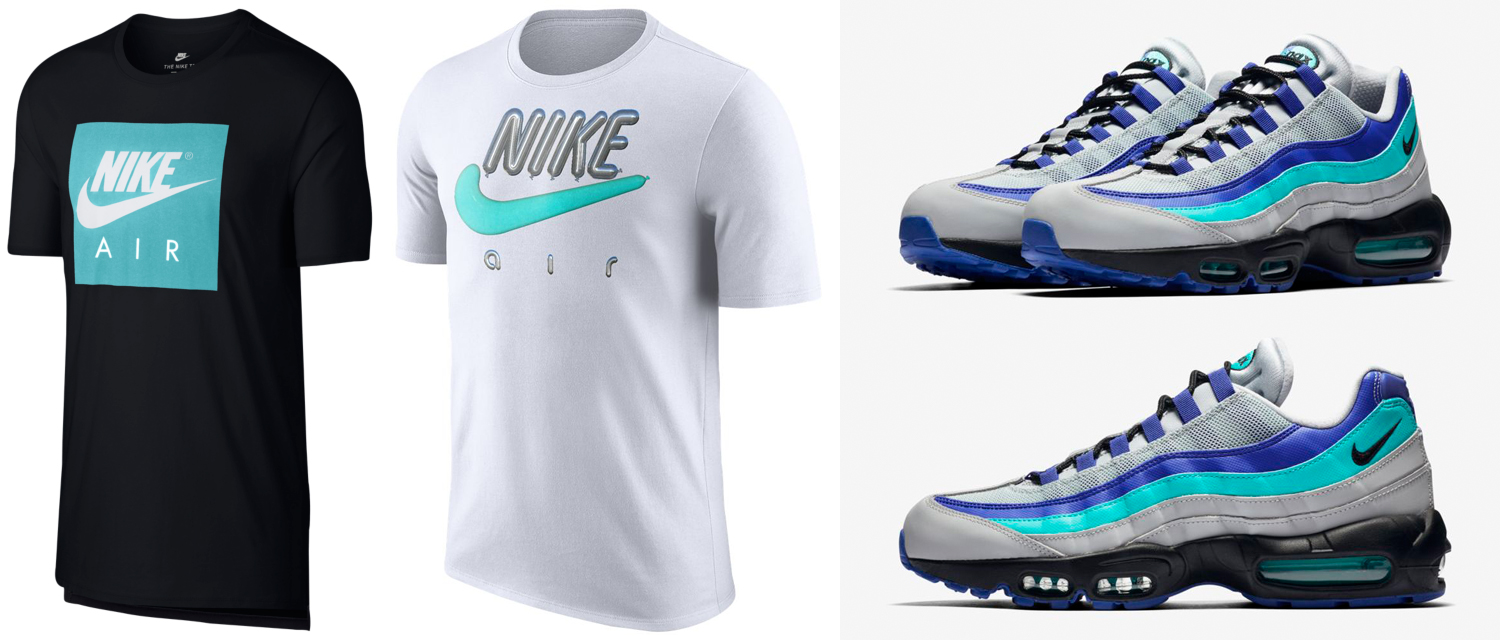Nike Air Max 95 Wolf Grey Aqua Shirts Sneakerfits. Prev. Clothing Nike 07d5dc0c8
