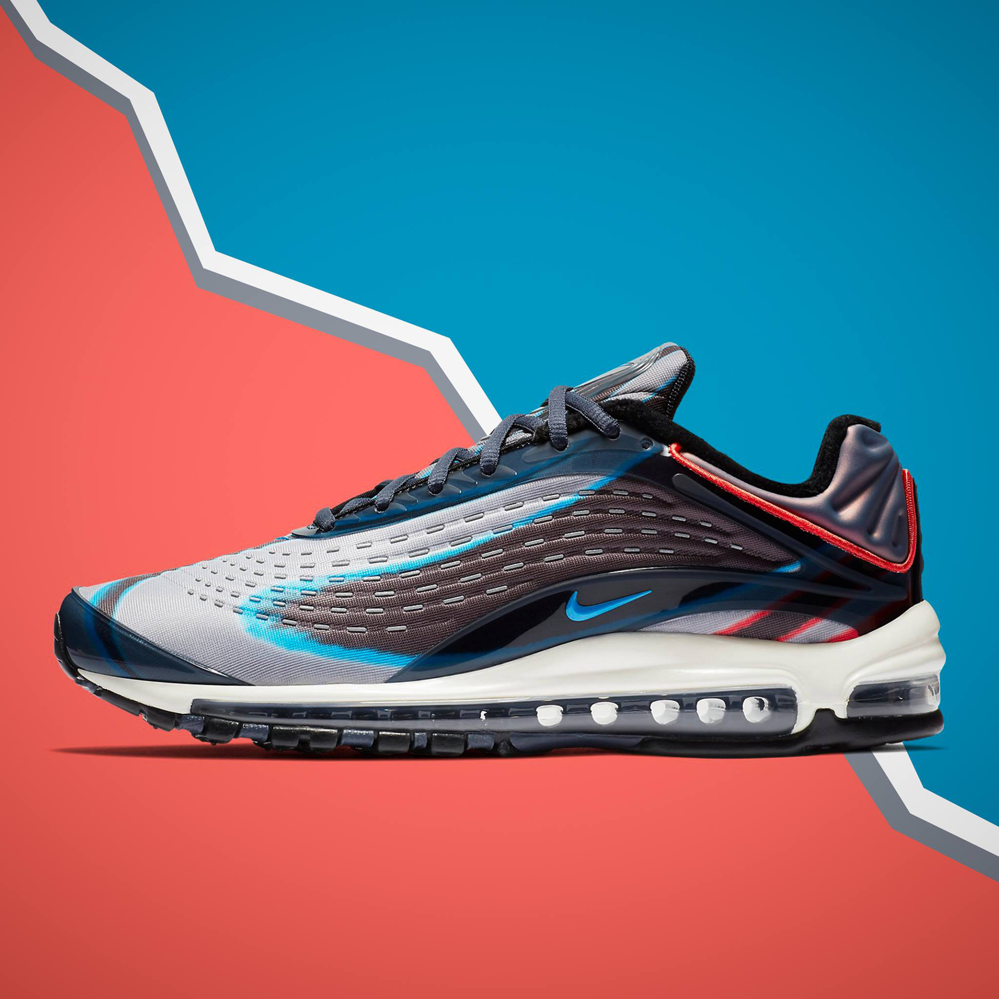 """bb8a42a5f7d Nike Air Max Deluxe Now Available in """"Thunder Blue Wolf Grey"""" Colorway"""