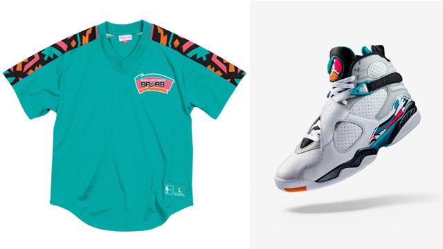 south-beach-jordan-8-retro-spurs-shirts