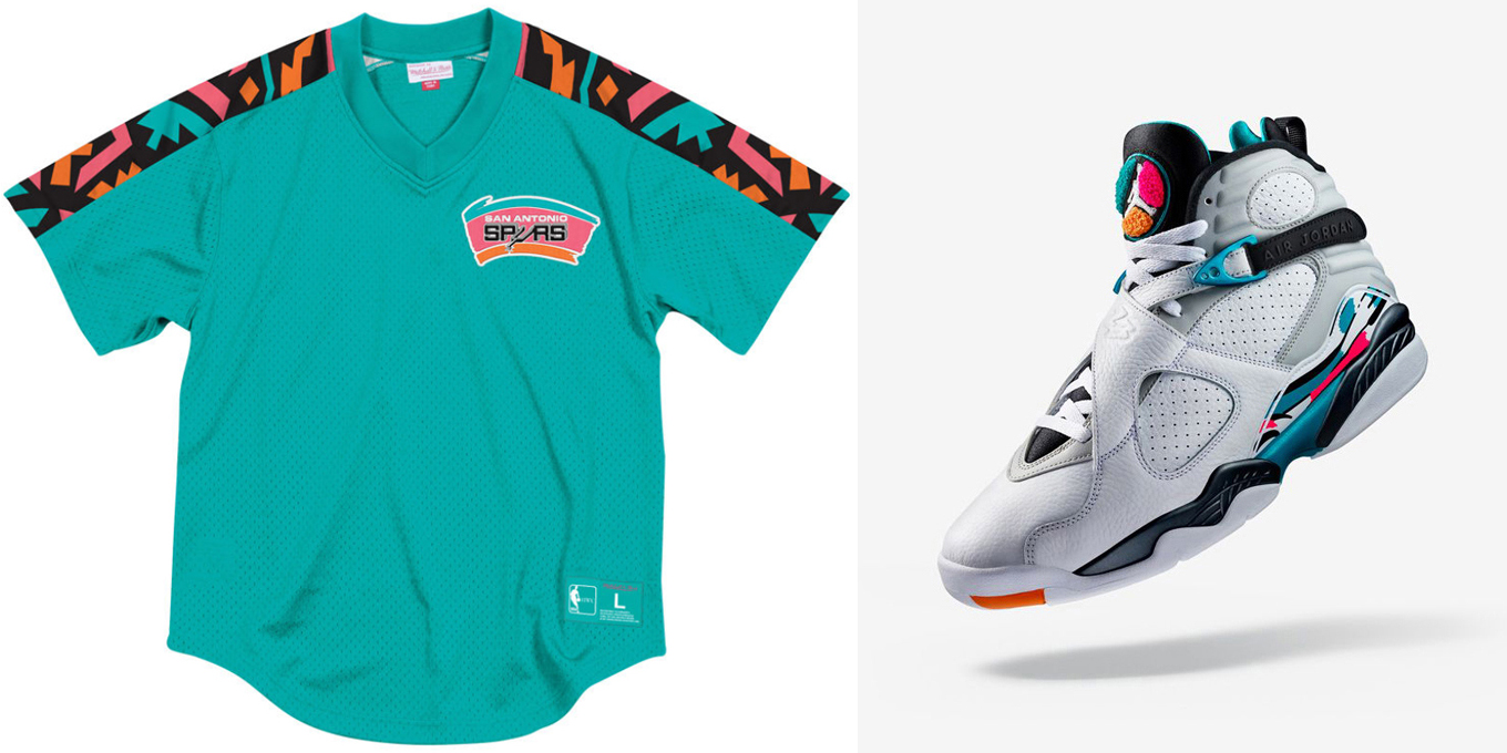 93560d99abede9 Jordan 8 South Beach Retro Jersey Shirts