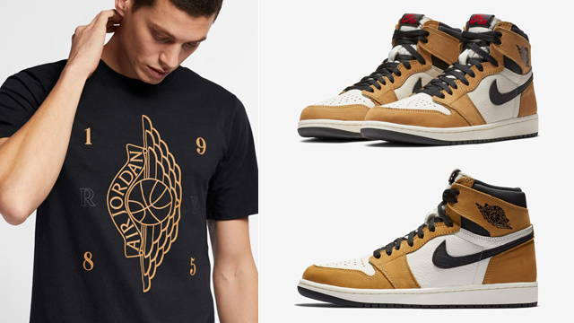 "6f8a00c6d2b1e0 Picked up a pair of the ""Rookie of the Year"" Air Jordan 1s and need that  perfect tee to hook  New from Jordan Brand is this Jordan Retro 1 R.O.Y. T-Shirt  to ..."