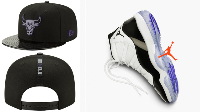 "039dca260414f3 Air Jordan 11 ""Concord"" x Chicago Bulls New Era Retro 11 Concord Hook  Snapback Cap"