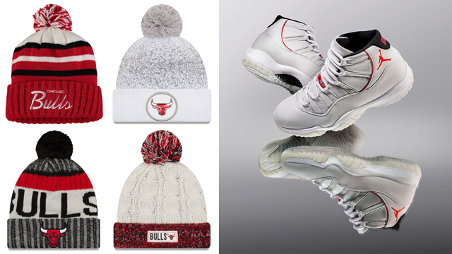 """996fe056ae5a The Top 5 Chicago Bulls Knit Hat Beanies to Match the Air Jordan 11  """"Platinum Tint"""""""