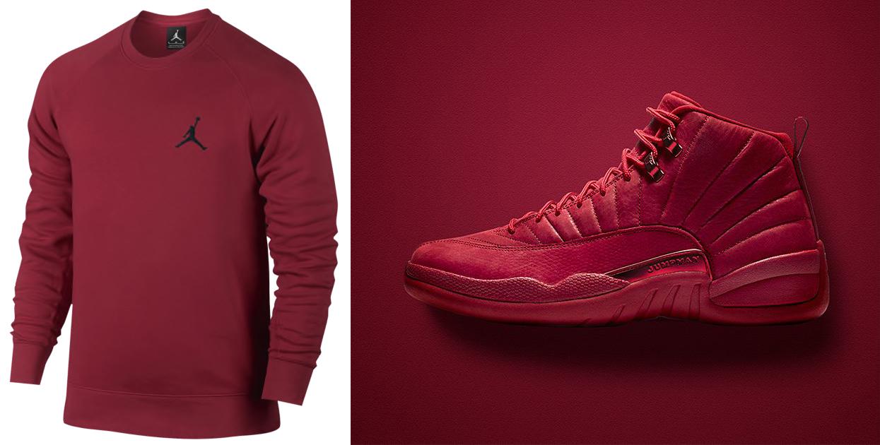 best website 884c1 27eb1 Air jordan 12 Gym Red Bulls Sweatshirt | SneakerFits.com