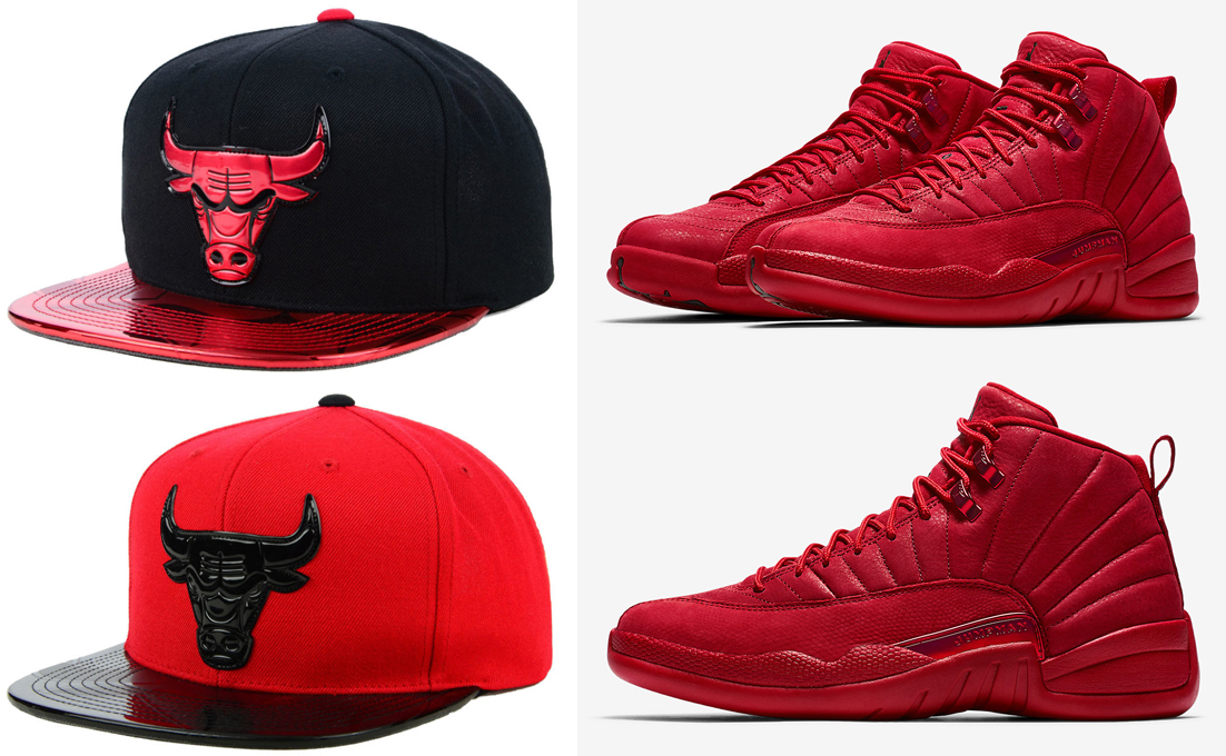 on sale c1949 af0d3 air-jordan-12-gym-red-bulls-hats