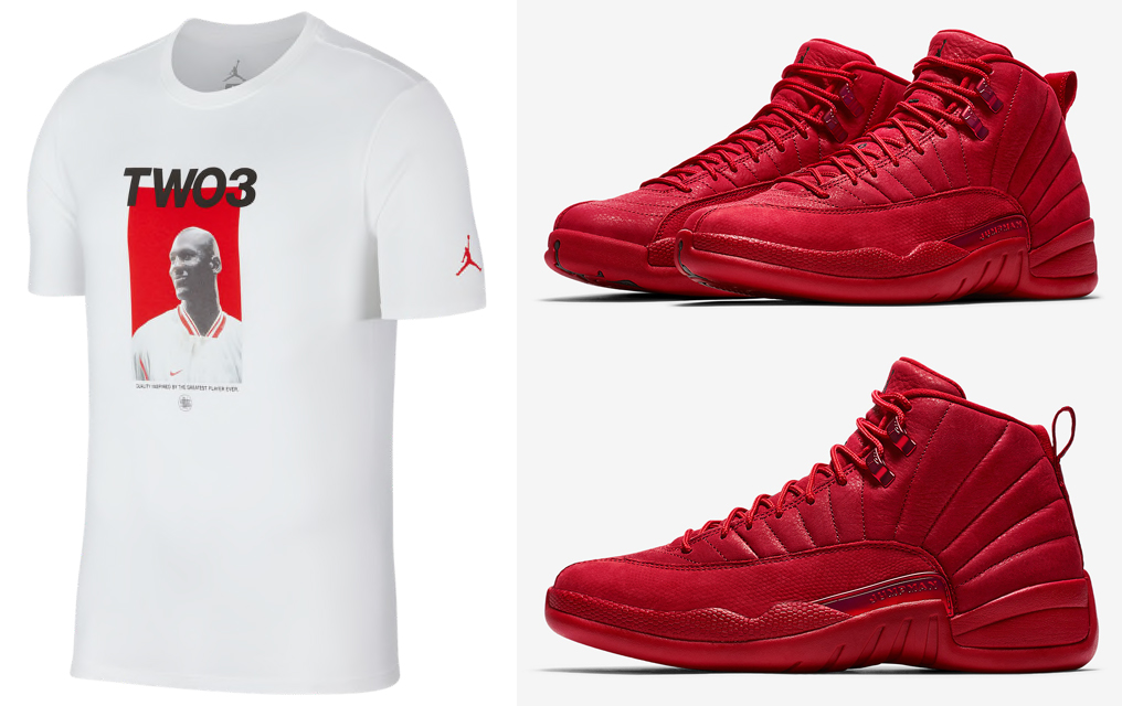 pretty nice 8bac0 58044 Air jordan 12 Gym Red Bulls T-Shirts | SneakerFits.com
