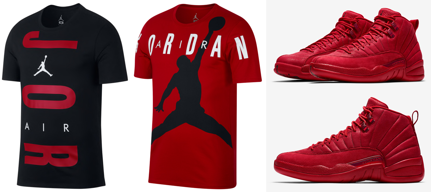 air-jordan-12-gym-red-tee-shirts