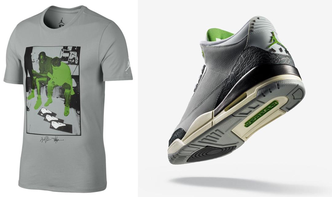 separation shoes 4efbc b679b air-jordan-3-chlorphyll-tinker-tee-shirt