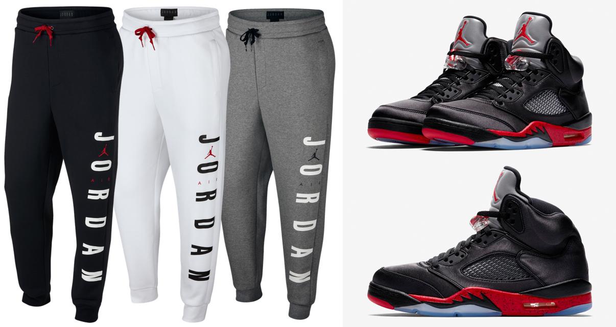 air-jordan-5-satin-bred-jogger-pants